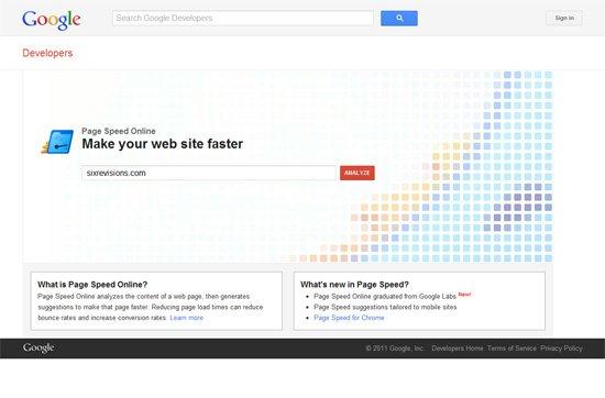 تست سرعت سایت توسط ابزار گوگل