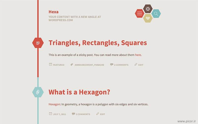 دانلود قالب Hexa وردپرس