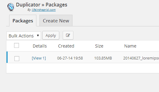duplicator-packages