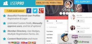 ایجاد پروفایل حرفه ای برای کاربران با افزونه تجاری User Pro