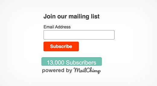 چگونگی نمایش تعداد MailChimp (میل چیمپ) در وردپرس