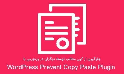 جلوگیری از کپی مطالب توسط دیگران در وردپرس WordPress Prevent Copy Paste Plugin