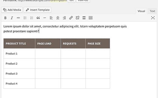 content-template-paste