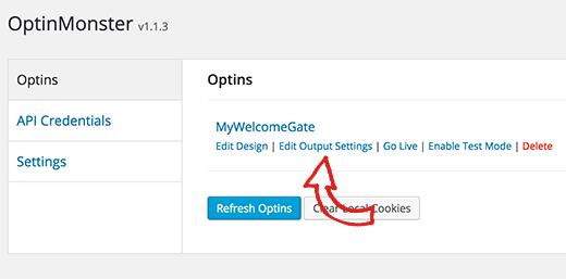 outputsettings