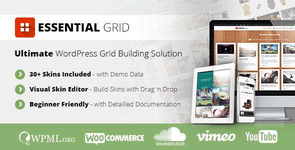 ایجاد گرید مطالب در وردپرس با افزونه Essential Grid