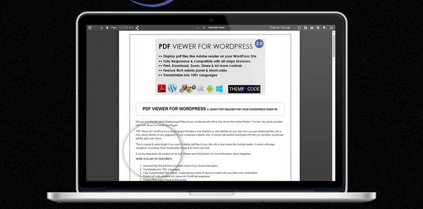 مشاهده و اجرای فایل های pdf در وردپرس با افزونه PDF viewer