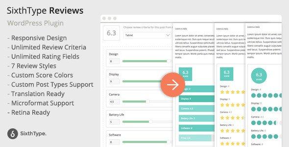 ایجاد بخش نقد و بررسی در وردپرس با افزونه SixthType Reviews