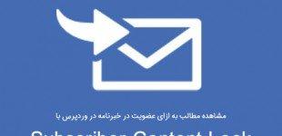 مشاهده مطالب به ازای عضویت در خبرنامه در وردپرس Subscriber Content Lock