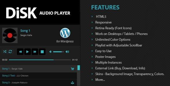 اجرای آنلاین موسیقی در وردپرس با افزونه Disk Audio Player
