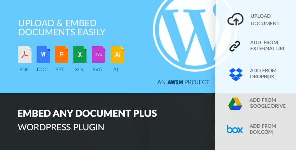 اجرای اسناد در وردپرس با افزونه Embed Any Document Plus
