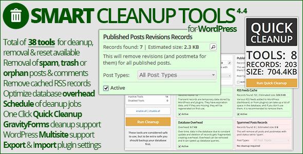 بهینه سازی هوشمند وردپرس با افزونه Smart Cleanup Tools