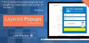 ایجاد لایه های پاپ آپ در وردپرس با افزونه Layered Popups