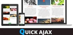 نمایش ایجکسی مطالب در وردپرس با افزونه Quick Ajax