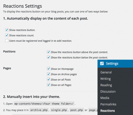reactions-settings