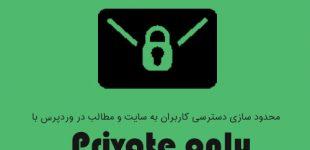 خصوصی کردن مطالب در وردپرس با افزونه Private only