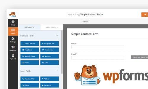 ایجاد فرم های چند مرحله ای در وردپرس با افزونه wpforms