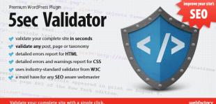 استاندارد سازی صفحات وردپرس با افزونه افزونه 5Sec Validator