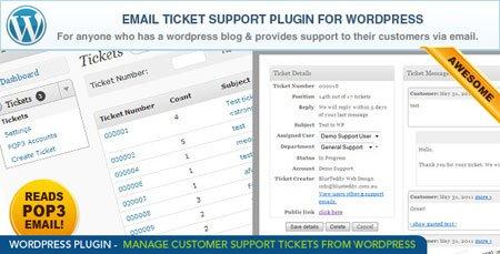 ارسال تیکت وردپرس با افزونه Email Ticket Support