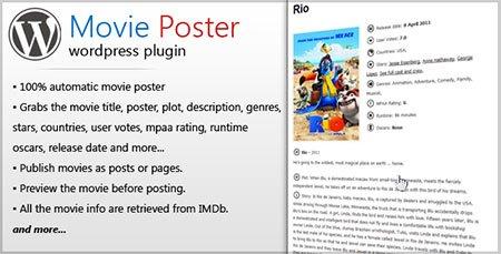 نمایش اطلاعات فیلم در وردپرس با افزونه Movie Poster