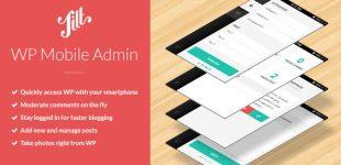 مدیریت وردپرس از طریق موبایل با افزونه wordpress mobile admin