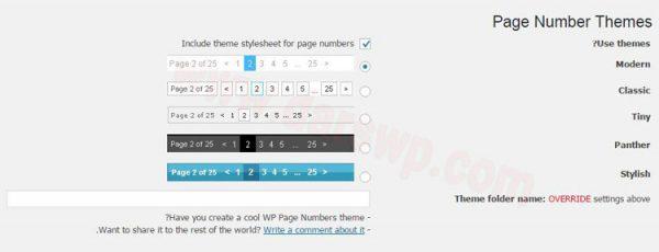 صفحه بندی صفحات وردپرس با WP Page Numbers