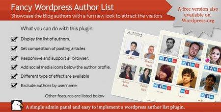 نمایش لیست نویسندگان سایت وردپرسی با افزونه A Fancy WordPress Author List