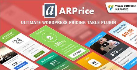 ایجاد جدول قیمت در وردپرس با افزونه Arprice
