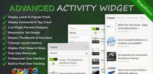 ایجاد ابزارک های پیشرفته در وردپرس با افزونه Advanced Activity Widget