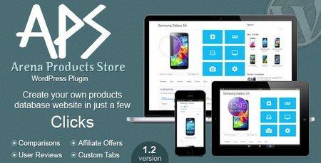 ایجاد فروشگاه حرفه ای با وردپرس افزونه Arena Products Store