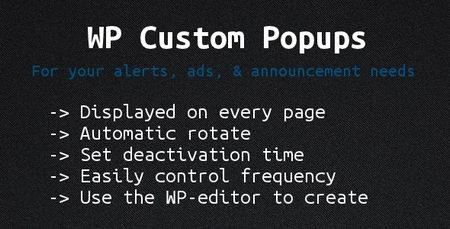 نمایش تبلیغات پاپ آپ در وردپرس با افزونه Wp Custom Popups