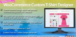دانلود افزونه Woocommerce Custom t-shirt Designer برای وردپرس
