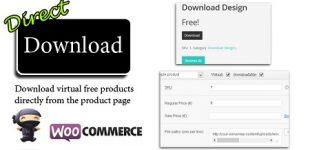 دانلود مستقیم در ووکامرس با افزونه Direct Download