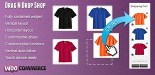 سفارش محصول با کشیدن به سبد خرید در وردپرس با افزونه Drag N Drop Shop