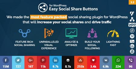اشتراک گذاری مطالب در وردپرس با افزونه Easy Social Share Buttons