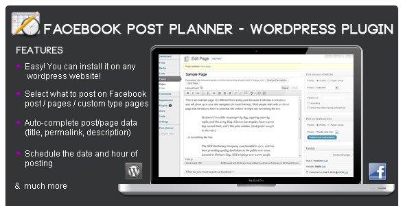 ارسال مطالب به فیسبوک در وردپرس با افزونه Facebook post planner