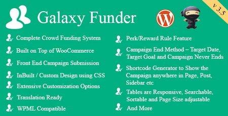 حمایت مالی ووکامرس با افزونه Galaxy Funder
