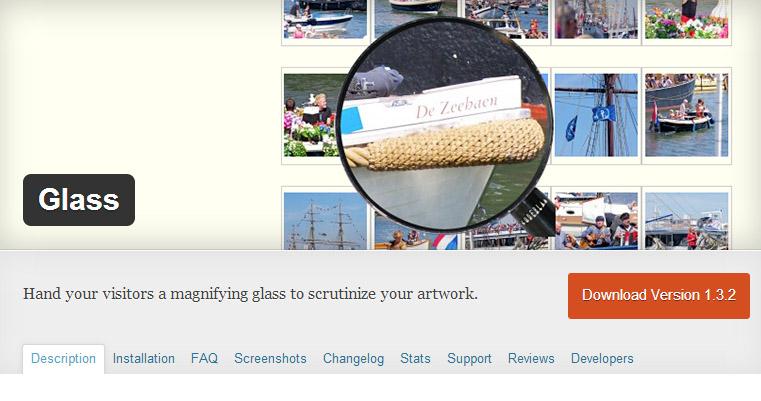 زوم و بزرگ نمایی تصاویر در وردپرس با افزونه Glass