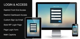 صفحه ورود پیشرفته در وردپرس با افزونه Login and Access