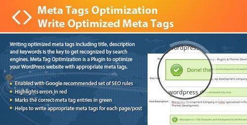 بهینه سازی برچسب ها در وردپرس با افزونه Meta Tags Optimization