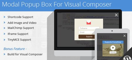 دانلود افزونه Modal Popup Box For Visual Composer برای وردپرس