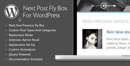 نمایش نوشته قبلی و بعدی در جعبه وردپرس با افزونه Next Post Fly Box