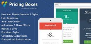 ایجاد جداول قیمت در وردپرس با افزونه Pricing Boxes Visual Composer