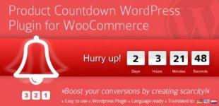 ایجاد شمارش معکوس برای محصولات ووکامرس با افزونه Product Countdown