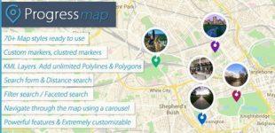 ایجاد نقشه پیشرفته در وردپرس با افزونه Progress Map