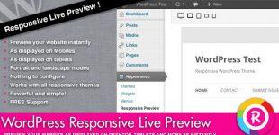 ایجاد پیش نمایش قالب با تست ریسپانسیو در وردپرس با افزونه Responsive Live Preview