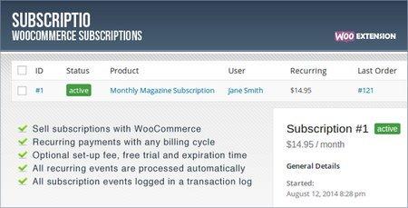 عضویت پیشرفته در ووکامرس با افزونه SubScriptio