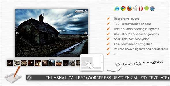 ایجاد گالری تصاویر بند انگشتی در وردپرس با افزونه Thumbnail Gallery