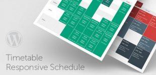 ایجاد جدول رویداد ها در وردپرس با افزونه Timetable Responsive Schedule