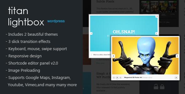 نمایش لایت باکس تصاویر در وردپرس با افزونه Titan Lightbox