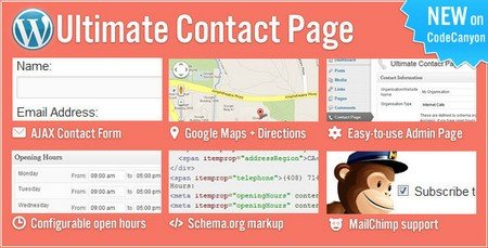 ایجاد صفحه تماس در وردپرس با افزونه Ultimate Contact Page